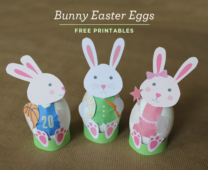 Kid friendly bunny easter egg decorations with free