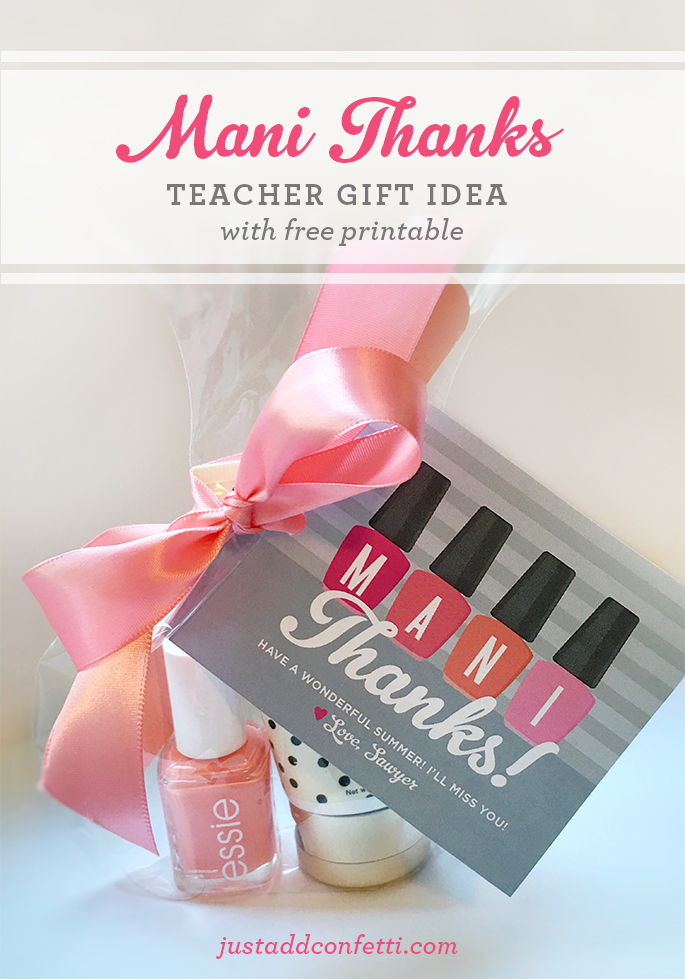 """Mani Thanks"" Gift Idea With Free Printable"