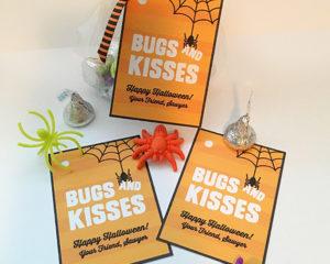"""""""Bugs & Kisses"""" Free Halloween Printable"""