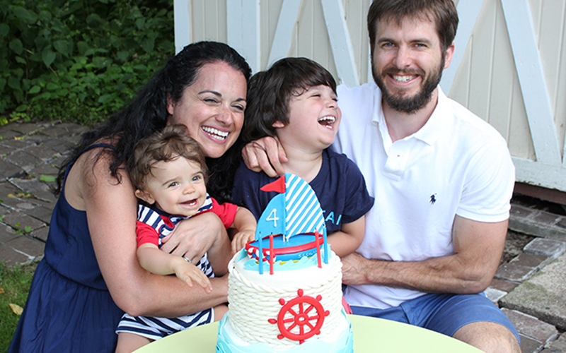 Nautical Birthday Party Family Photo