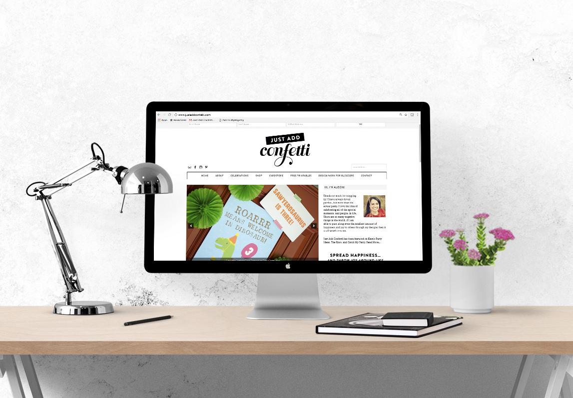Just Add Confetti new site design