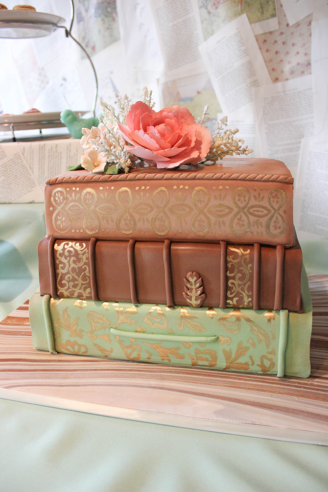 Vintage Book Party, Retirement Party, Vintage School, Vintage Book, Tablescape, Dessert Table, Book Cake
