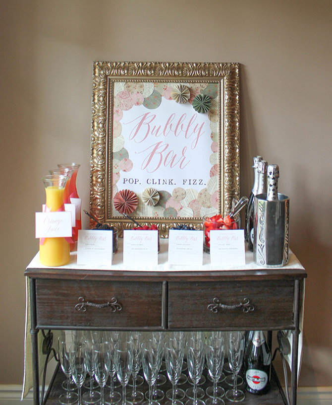 Bubbly Bar, Champagne Bar, Champagne, pop, clink, fizz, Vintage Book Party, Retirement Party, Vintage School, Vintage Book, cheers