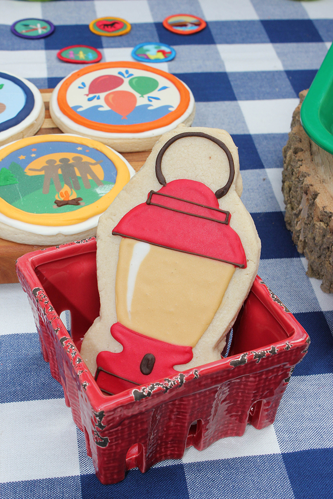 cookies, bug juice, trail mix bar, Summer Camp Tablescape, camping, s'mores, kids party, lanterns, trail mix, camping party, summer camp party