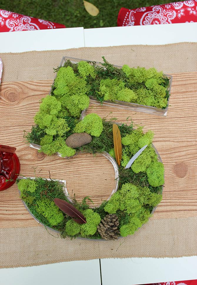 moss five decor, cookies, bug juice, trail mix bar, Summer Camp Tablescape, camping, s'mores, kids party, lanterns, trail mix, camping party, summer camp party