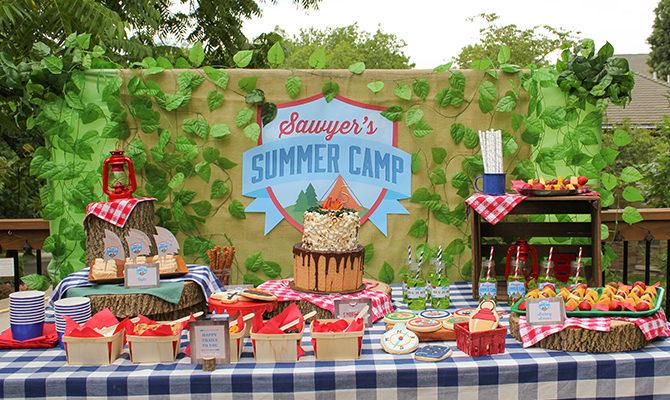 Sawyer's Summer Camp 5th Birthday Adventure