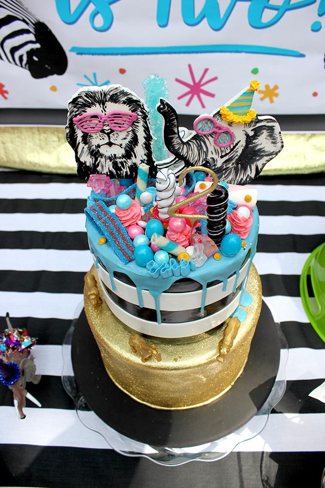 cake, wild cake, Party animal, zoo party, lion, elephant, giraffe, zebra, party, kids party, bubbles, wild animals, bold, birthday, birthday boy, DIY, party decor, panda, party like a panda, pandamonium