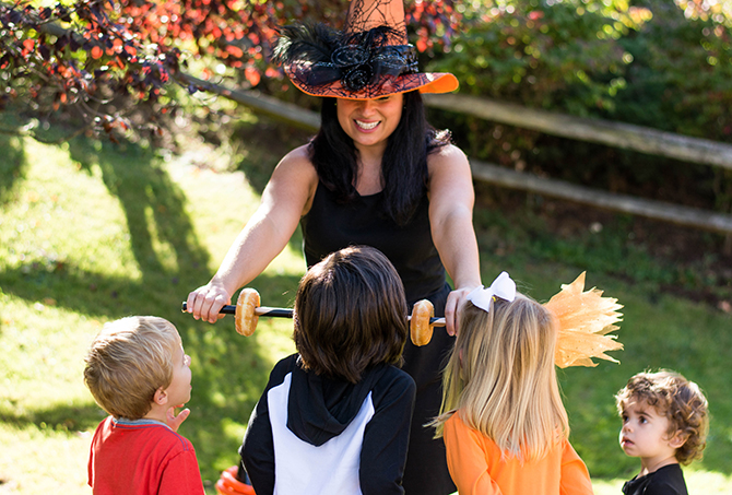 Kids Halloween Party, Candy Witch, Spider, Eek balloon, fun, not scary, preschool halloween party, you're fang-tastic, boo poo, toot, scoot and boogie, mumosas, the boo crew, oriental trading, oriental trading halloween party, whoopee cushion musical chairs, just add confetti