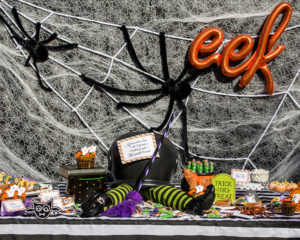 """Witches, Boos, and Spiders too!"" Kid's Halloween Party with Oriental Trading"