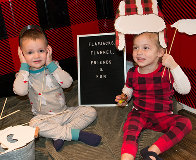 Pancakes, Pajamas and Plaid, Kids Christmas Party, Plaid, Buffalo Plaid, Christmas, Christmas Party, Oriental Trading, Believe in the Beard, just add confetti, pittsburgh blogger, reindeer games, kids Christmas party games, kids party games, kids reindeer craft, oriental trading kids, kids reindeer games, reindeer racing track, reindeer trophy, photo booth, buffalo plaid photo props