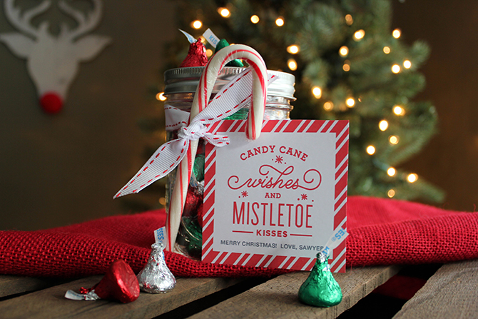Candy Cane Wishes and Mistletoe Kisses Christmas Gift Idea - Just ...