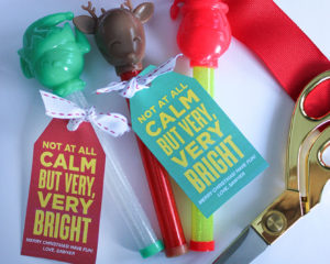"""""""Not At All Calm, but Very, Very Bright"""" Light-Up Christmas Wand Gift Idea"""
