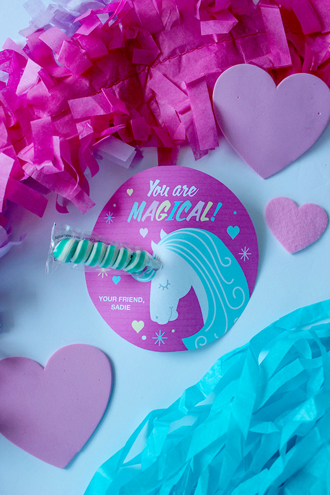 photograph relating to Free Printable Unicorn Valentines titled Twisty Lollipop Unicorn valentine, unicorn valentine