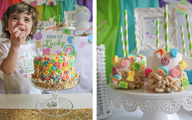 You're my Lucky Charm, St. Patrick's Day party, lucky charm, cereal party, cereal-sly lucky, kids party, kid's St. Patrick's Day party, free printables, pastel rainbow, rainbow cupcakes, Lucky Charms cake, Just Add Confetti, Just Add Confetti printables, Lucky Charms, Lucky Charms cereal, inexpensive parties, easy parties, party on a budget, budget-friendly parties, lucky, what I lack in luck I make up for in charm, charm, leprechaun, party blogger, Pittsburgh party blogger, creative food