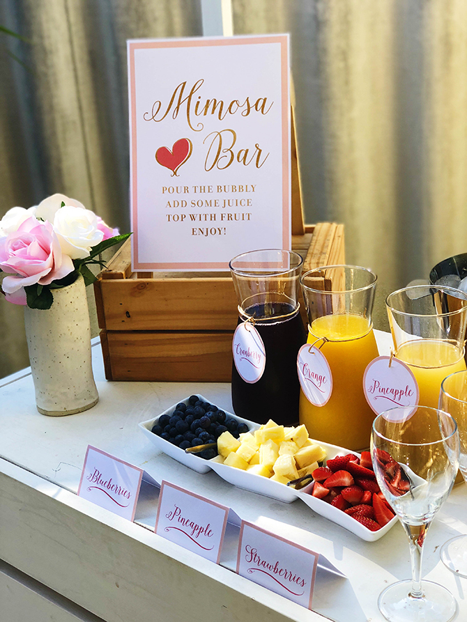 Birthday Brunch Mimosa Bar, mimosa bar, free printables, Just Add Confetti, Just Add Confetti free printables, My Little Party Australia, mimosa, brunch, birthday brunch