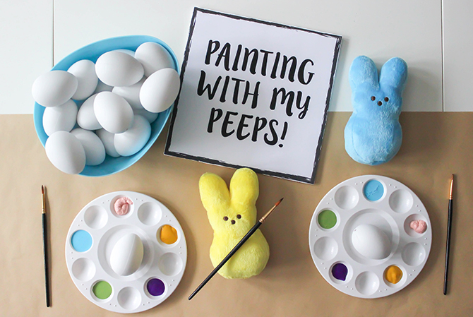 Painting With My Peeps: Egg Coloring Easter Party - Just Add Confetti