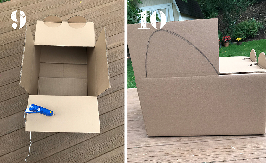 DIY cardboard box cars, how to make cardboard box cars, cars for drive-in movie party, cars, drive-in movie cars, cardboard box cars, DIY cars, Just Add Confetti,