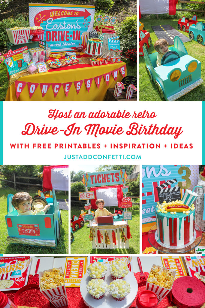 Eastons Retro Drive In Movie Party Just Add Confetti