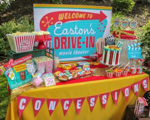 Easton's Retro Drive-In Movie Party