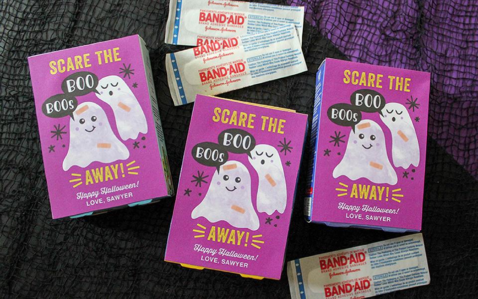 Scare the Boo Boos Away, Band-Aid Halloween gift idea, Halloween, Kids Halloween