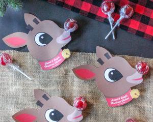 Rudolph Lollipop Gift Idea