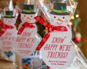 """Snow Happy We're Friends"" Classroom Gift Idea"